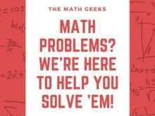 Math Tutoring Flyer Template