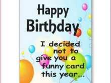 Happy Birthday Card Template To Print