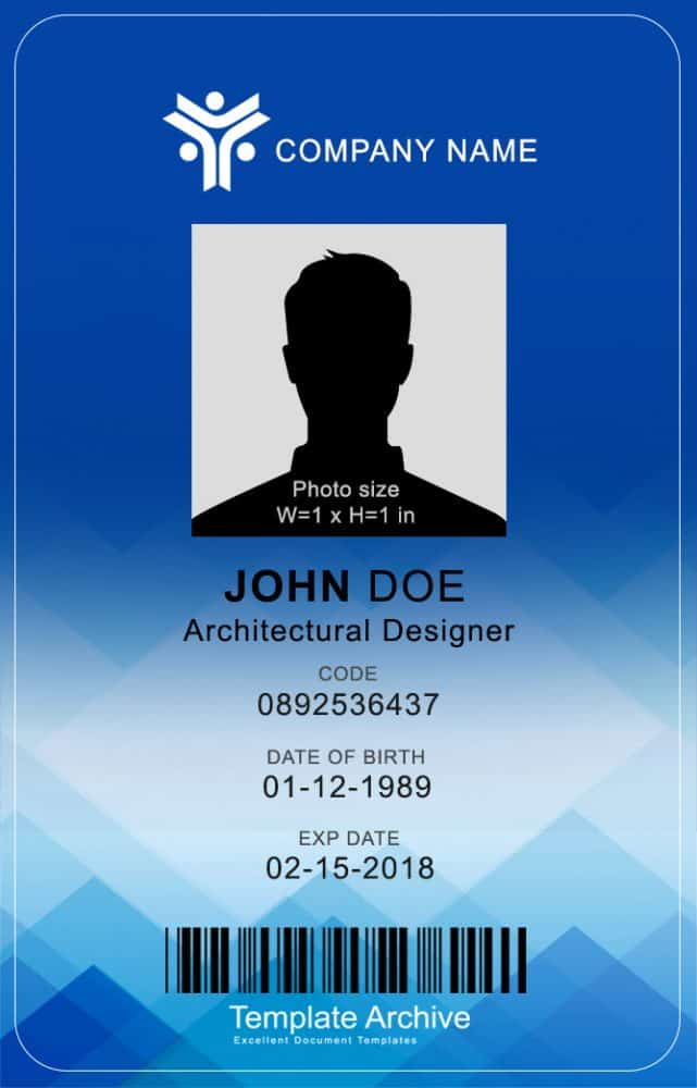 40 customize our free id card template for word with