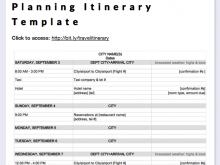 Travel Itinerary Template Simple