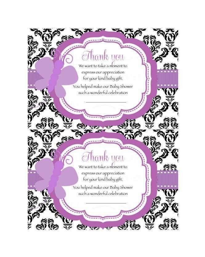 40 Printable Baby Thank You Card Template Printable in Photoshop with Baby Thank You Card Template Printable