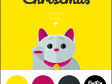 40 Printable Cat Christmas Card Template Now with Cat Christmas Card Template