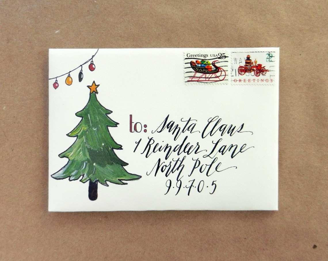 40 Printable Christmas Card Envelopes Templates PSD File for Christmas Card Envelopes Templates