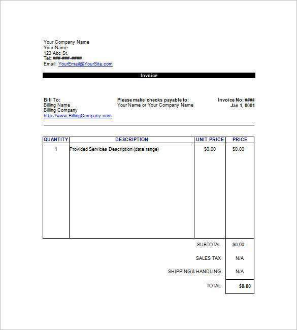 40 Report Blank Invoice Template Google Sheets Now with Blank Invoice Template Google Sheets