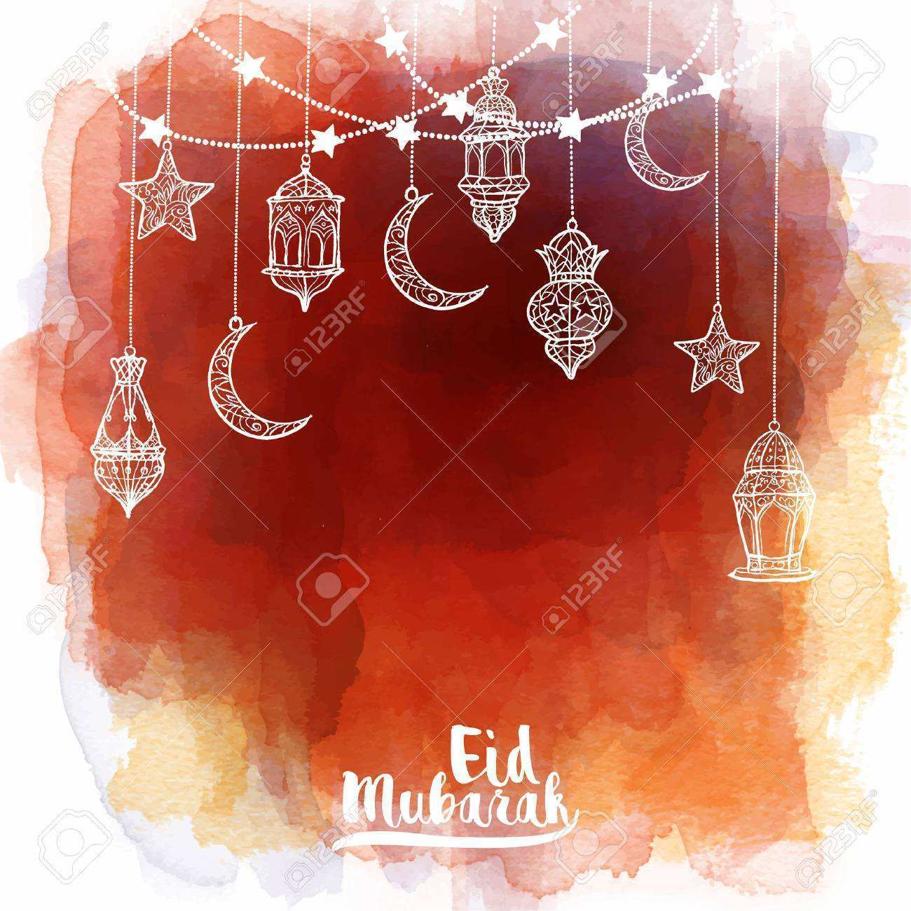 40 Report Eid Card Templates Vector For Free for Eid Card Templates Vector