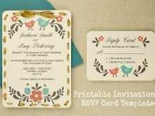 40 Standard Invitation Card Rsvp Template Maker with Invitation Card Rsvp Template