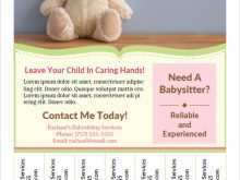 40 The Best Babysitting Flyers Templates For Free with Babysitting Flyers Templates