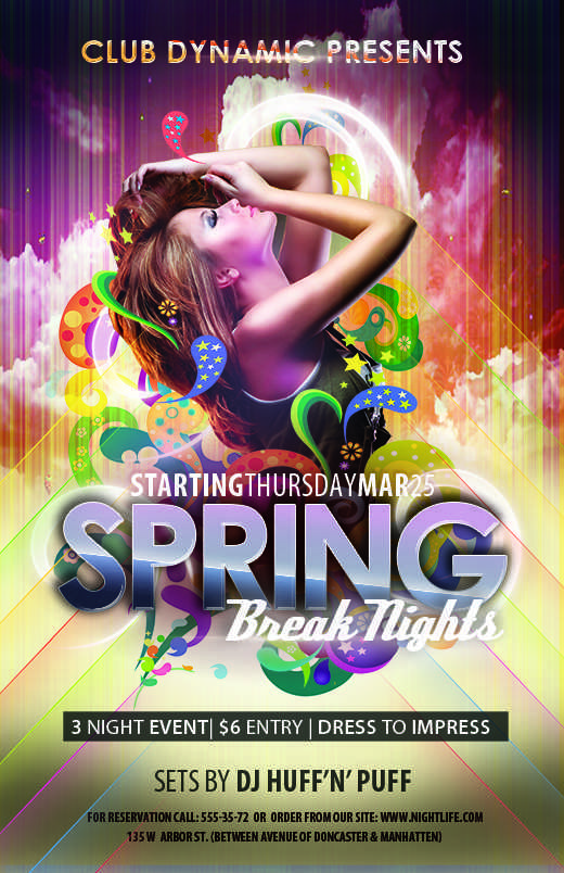 40 The Best Club Event Flyer Templates in Photoshop with Club Event Flyer Templates