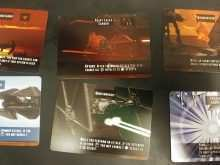 X Wing Card Template