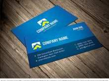 Blank Business Card Template Illustrator Free