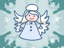 41 Adding Christmas Card Angel Template Maker by Christmas Card Angel Template