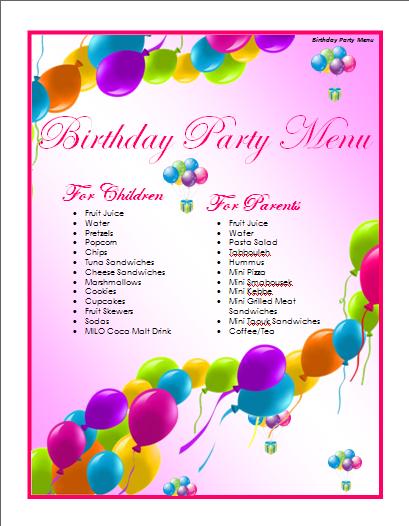 41 Blank Free Birthday Flyer Template Word Maker for Free Birthday Flyer Template Word