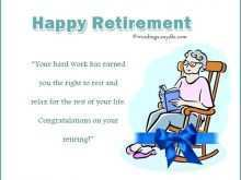 Retirement Card Template Printable