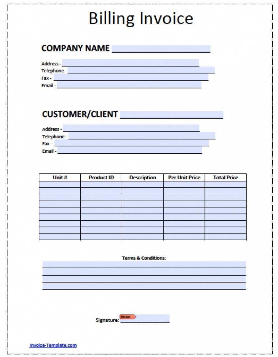 41 Create Blank Billing Invoice Template Pdf Layouts by Blank Billing Invoice Template Pdf