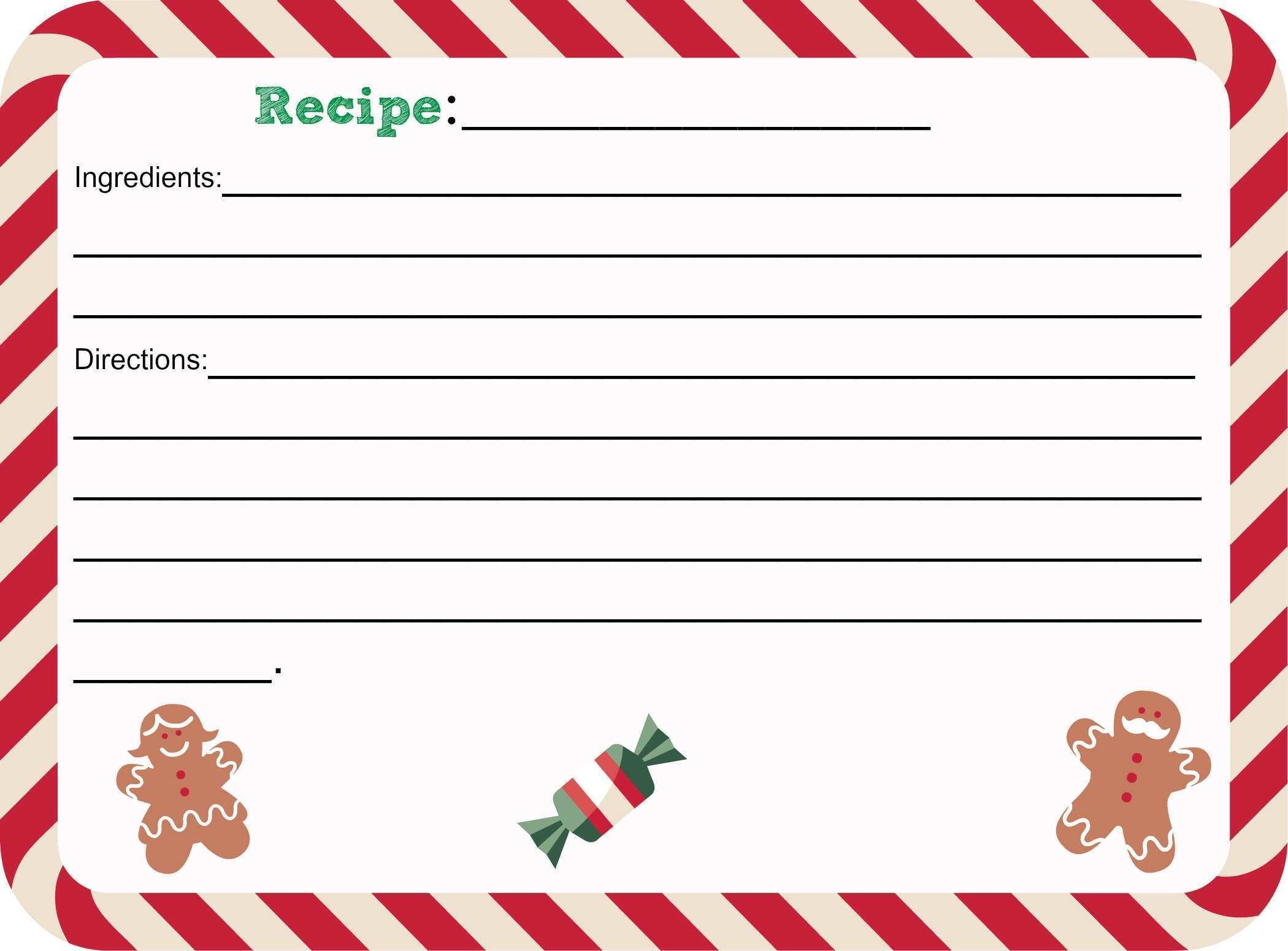 41 Create Christmas Recipe Card Template For Mac for Ms Word with Christmas Recipe Card Template For Mac
