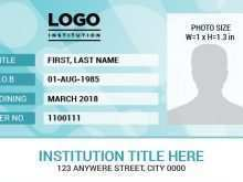 Template For Id Card By Word