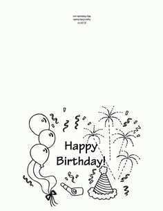 41 Customize Happy Birthday Card Template To Color Layouts for Happy Birthday Card Template To Color