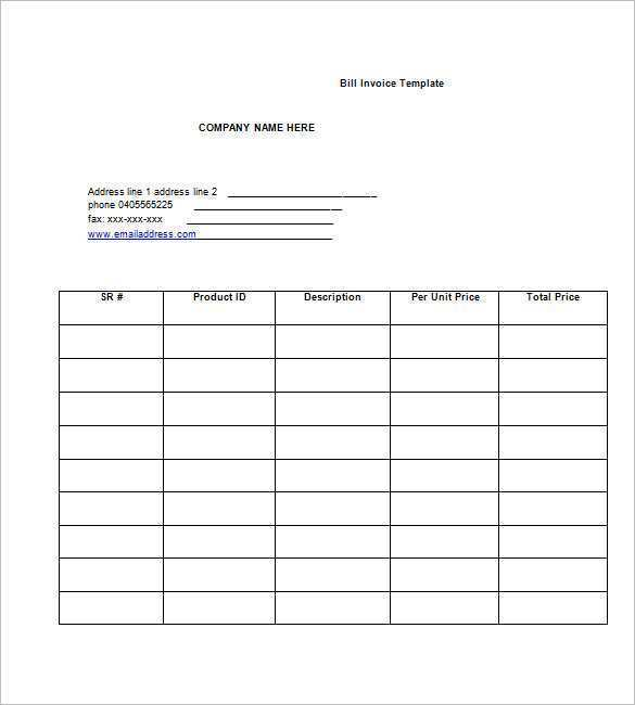 41 Customize Our Free Blank Billing Invoice Template Pdf Layouts With Blank Billing Invoice Template Pdf Cards Design Templates