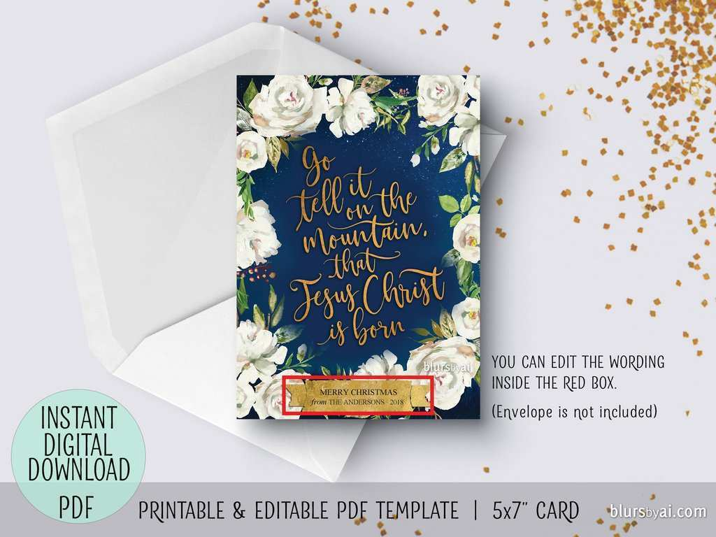 41 Customize Our Free Christmas Card Template Pdf Download for Christmas Card Template Pdf