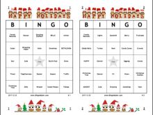 41 Format Christmas Bingo Card Template With Stunning Design with Christmas Bingo Card Template