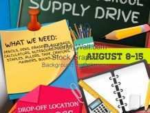 School Supply Drive Flyer Template Free