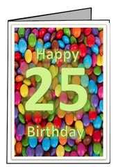 41 Free 25Th Birthday Card Template Maker with 25Th Birthday Card Template