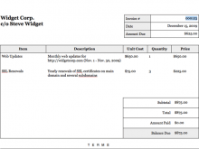 Tax Invoice Template Html