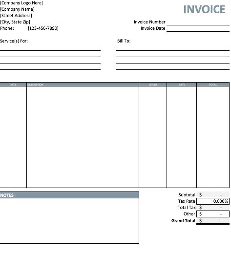 41 Printable Blank Billing Invoice Template Pdf in Photoshop for Blank Billing Invoice Template Pdf