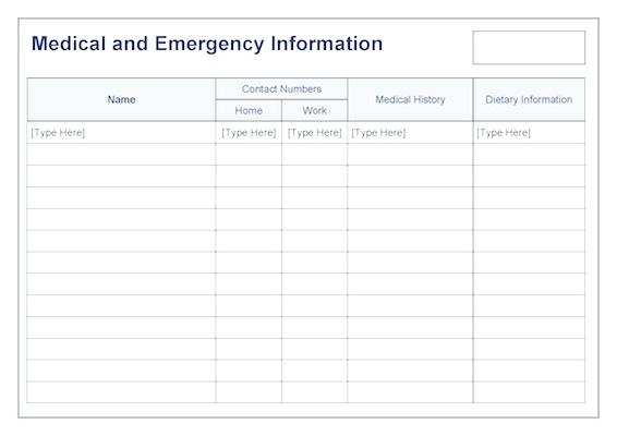 41 Report Emergency Id Card Template for Ms Word by Emergency Id Card Template