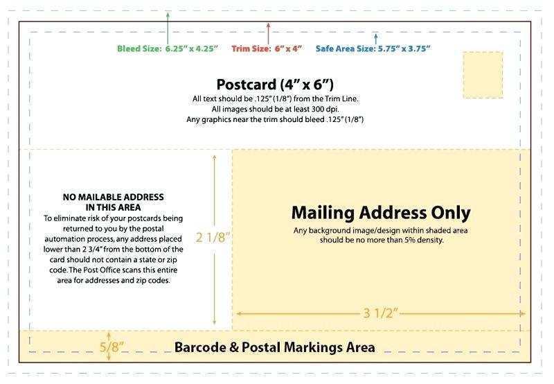 41 Standard 4 X 6 Postcard Template Illustrator For Free with 4 X 6 Postcard Template Illustrator
