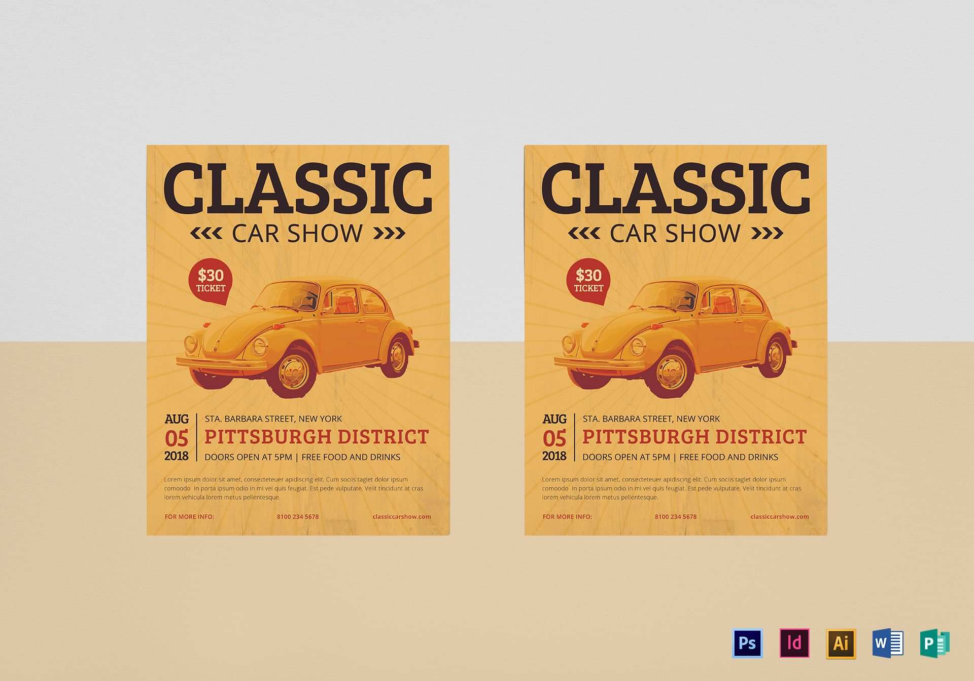 41 Standard Car Show Flyer Template Word With Stunning Design with Car Show Flyer Template Word