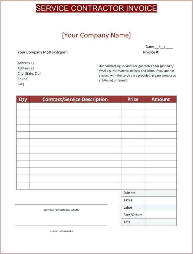 41 Standard Independent Contractor Invoice Template Nz For Free For Independent Contractor Invoice Template Nz Cards Design Templates