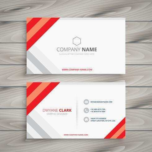 41 The Best Business Card Template Red in Word for Business Card Template Red