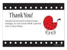 Thank You Card Template Baby Shower