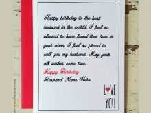 42 Create Birthday Card Template Husband Download by Birthday Card Template Husband
