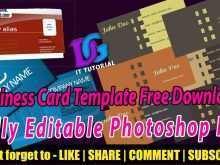 42 Create Business Card Print Template Photoshop in Word for Business Card Print Template Photoshop