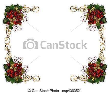 42 Create Christmas Card Template Border Download with Christmas Card Template Border