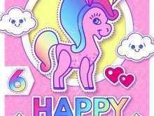 42 Creative Birthday Card Template Unicorn With Stunning Design with Birthday Card Template Unicorn