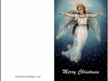 42 Creative Christmas Card Angel Template PSD File by Christmas Card Angel Template