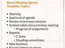 42 Creative Church Council Agenda Template in Photoshop with Church Council Agenda Template