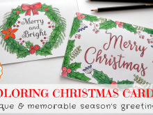 42 Customize Christmas Card Templates Colour In Layouts with Christmas Card Templates Colour In