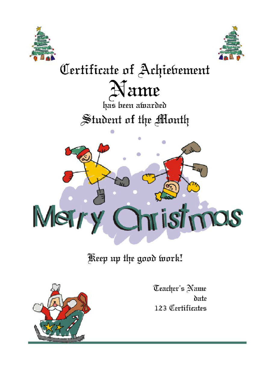 Gift Certificate Design Template Free