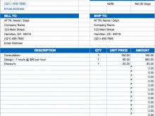 42 Format Invoice Samples Excel For Free for Invoice Samples Excel