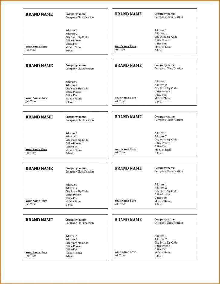 42 Free Avery Business Card Template Excel in Word with Avery Business Card Template Excel