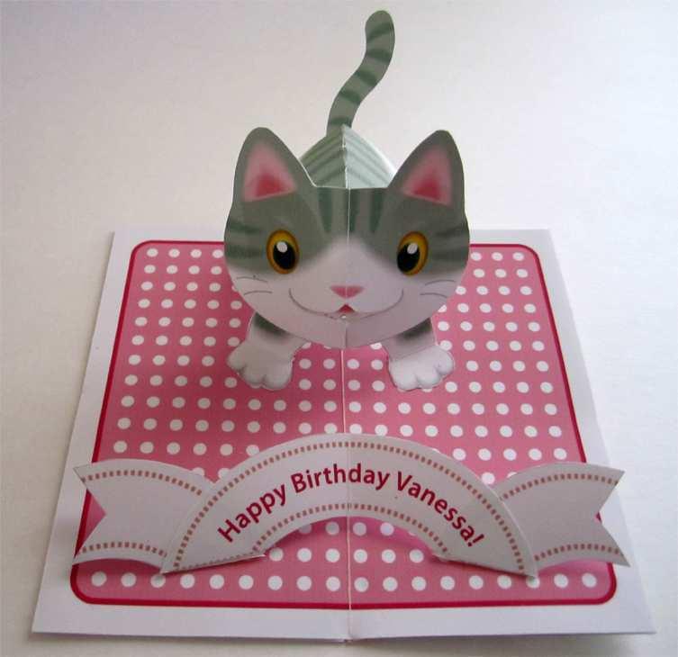 42 Free Pop Up Kitten Card Template Maker for Pop Up Kitten Card Template