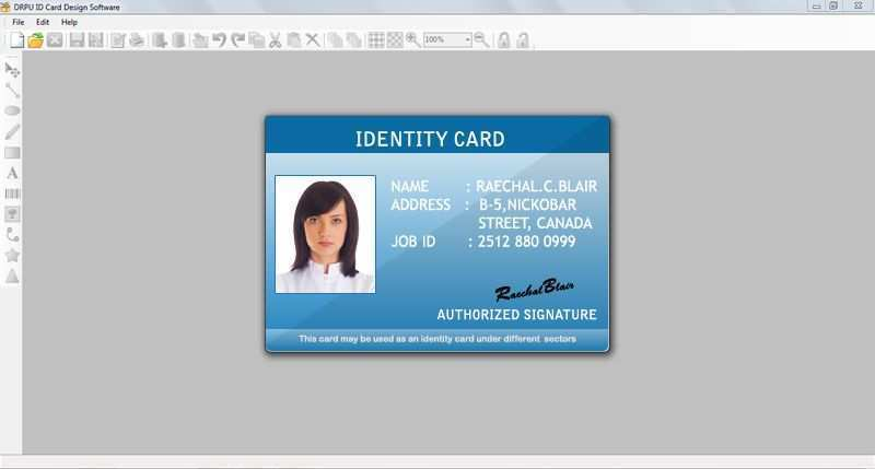 42 Free Printable Id Card Template Software Download For Id Card Template Software Cards Design Templates