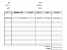 42 Free Printable Invoice Template Uk Without Vat Now with Invoice Template Uk Without Vat