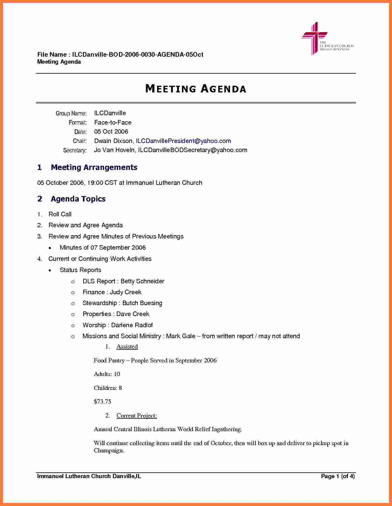 25 Online Board Meeting Agenda Template for Ms Word for Board In Corporate Minutes Template Word
