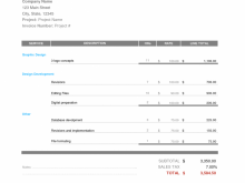 Invoice Template For Freelance Designer