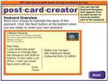 Postcard Template Elementary School